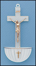 LUMINOUS CRUCIFIX FONT - AS612 - Catholic Book & Gift Store