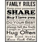 FAMILY RULES PLAQUE - BOQ70 - Catholic Book & Gift Store