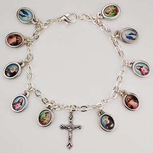PICTURE SAINTS BRACELET - BR406 - Catholic Book & Gift Store