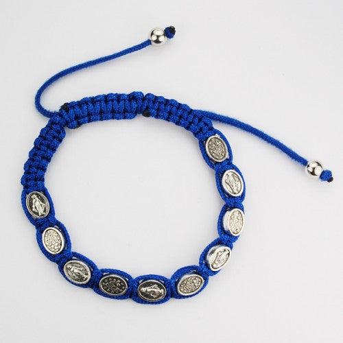 BLUE CORD MIRACULOUS BRACELET - BR450C - Catholic Book & Gift Store