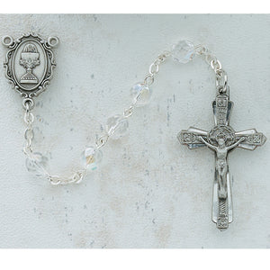 6MM CRYSTAL COMMUNION ROSARY - C45DW - Catholic Book & Gift Store