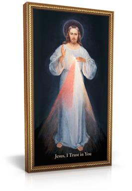10X18 FRAMED DIVINE MERCY IMAGE - DM2-O - Catholic Book & Gift Store