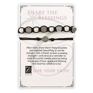 SHARE THE BLESSINGS BRACELET SET WITH BENEDICT MEDALS