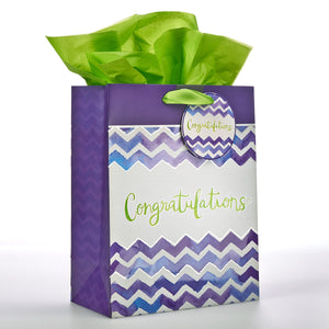 CONGRATULATIONS/MEDIUM GIFT BAG WITH TISSUE - GBA086 - Catholic Book & Gift Store