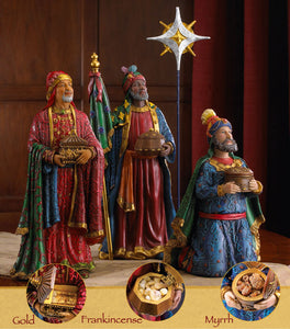 3 KINGS FOLLOWING CHRISTMAS STAR - GFM014 - Catholic Book & Gift Store