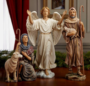 "SHEPHERDS AND ANGEL/""REAL LIFE NATIVITY"" - GFM015 - Catholic Book & Gift Store"
