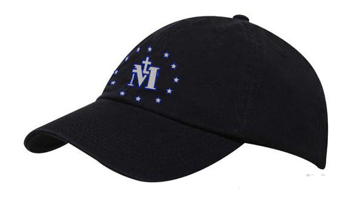 MIRACULOUS MEDAL HAT/NAVY - HATMMN - Catholic Book & Gift Store