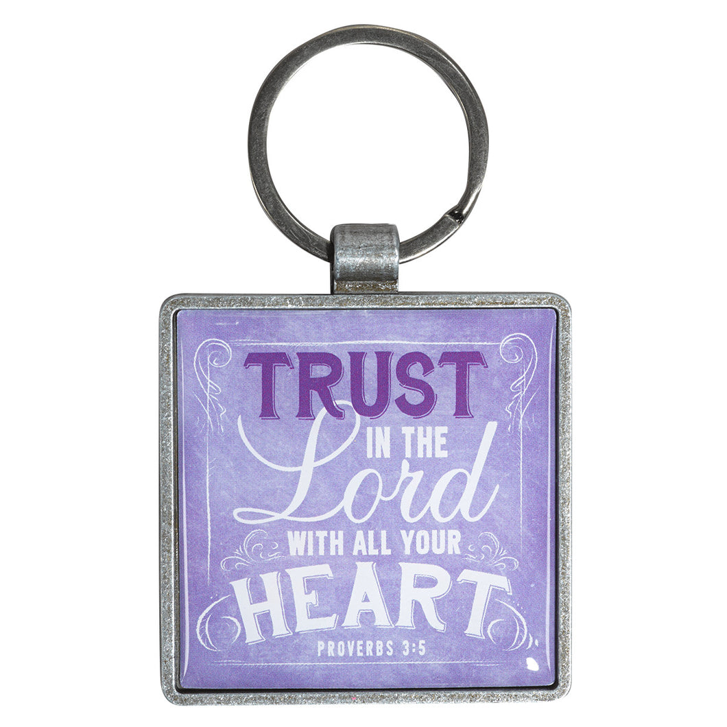 METAL KEYRING/TRUST IN THE LORD - KEP037 - Catholic Book & Gift Store