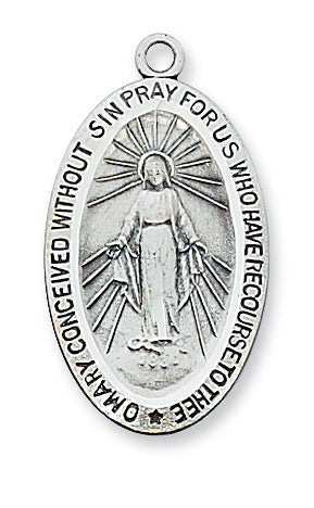 STERLING SILVER MIRACULOUS MEDAL - L311MI - Catholic Book & Gift Store