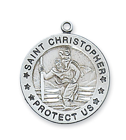STERLING SILVER ST CHRISTOPHER MEDAL - L312CH - Catholic Book & Gift Store