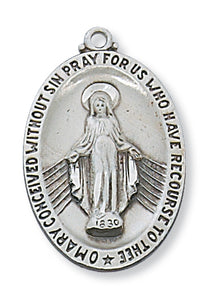 STERLING SILVER MIRACULOUS MEDAL - L336MI - Catholic Book & Gift Store