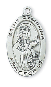 STERLING SILVER ST DYMPHNA MEDAL - L500DY - Catholic Book & Gift Store