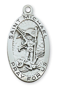 STERLING SILVER ST MICHAEL MEDAL - L550MK - Catholic Book & Gift Store
