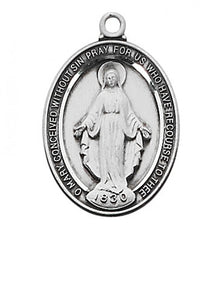 STERLING SILVER MIRACULOUS MEDAL - L683MI - Catholic Book & Gift Store