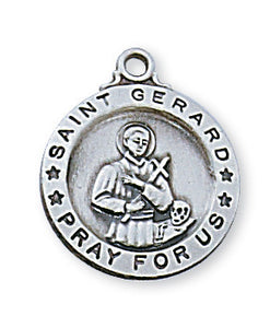 STERLING SILVER ROUND ST GERARD PENDANT