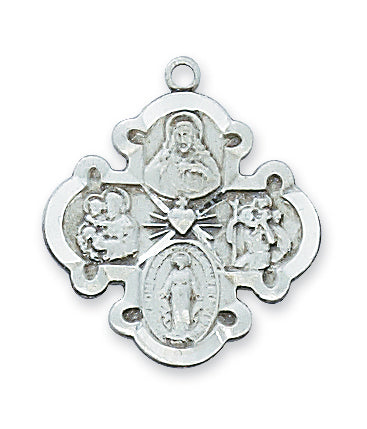 STERLING SILVER 4-WAY CROSS - LC4S - Catholic Book & Gift Store