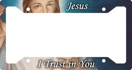 PLASTIC LICENSE PLATE FRAME/DIVINE MERCY - LPPF-2 - Catholic Book & Gift Store