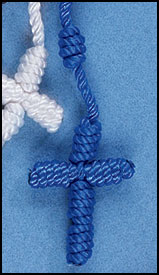 BLUE KNOTTED CORD ROSARY - NC517 - Catholic Book & Gift Store