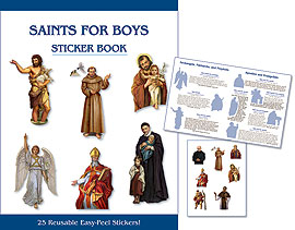 SAINTS FOR BOYS/STICKER BOOK - NC644 - Catholic Book & Gift Store