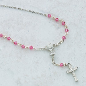 "16"" 4MM PINK ""Y"" NECKLACE W/CHALICE PENDANT - NK55R - Catholic Book & Gift Store"
