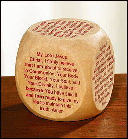 1ST COMMUNION PRAYER CUBE/WOOD - NS115 - Catholic Book & Gift Store