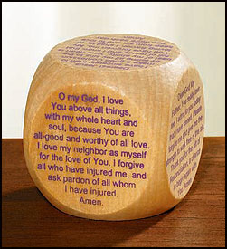 RECONCILIATION PRAYER CUBE/WOOD - NS116 - Catholic Book & Gift Store