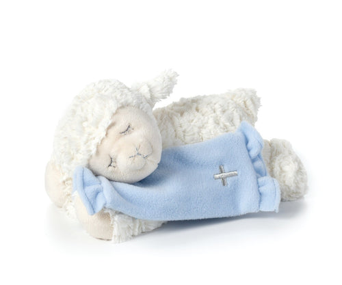 PLUSH - Blue Now I Lay Me Down To Sleep Lamb