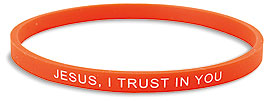 JESUS,TRUST/RED BRACELET - PC503 - Catholic Book & Gift Store