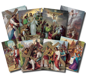 14 STATIONS OF THE CROSS/4X6 POSTER SET - POS-1467 - Catholic Book & Gift Store