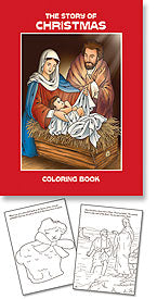 STORY OF CHRISTMAS COLORING BOOK - PS021 - Catholic Book & Gift Store