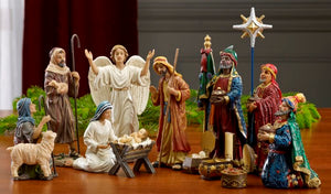 "14 PC/7"" REAL LIFE NATIVITY - RLN030 - Catholic Book & Gift Store"