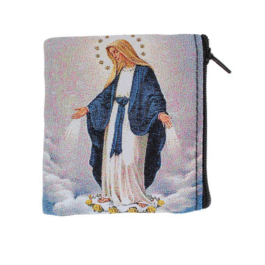 OUR LADY OF GRACE ROSARY CASE/ZIPPER