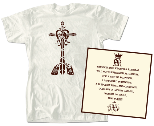 SCAPULAR T-SHIRT - SCAPL - Catholic Book & Gift Store