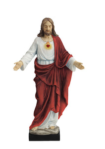 "10"" SACRED HEART OF JESUS STATUE - SR-76016-C - Catholic Book & Gift Store"