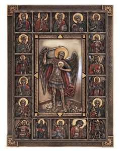 "9X12"" ARCHANGEL MICHAEL PLAQUE/BRONZE - SR-76286"