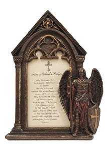 "7.5""H ST MICHAEL PHOTO FRAME/COLD-CAST BRONZE"