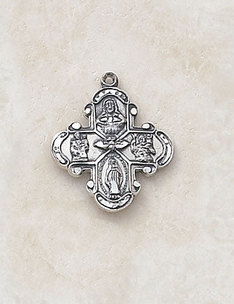 STERLING FOUR-WAY MEDAL/SMALL - SS1520 - Catholic Book & Gift Store