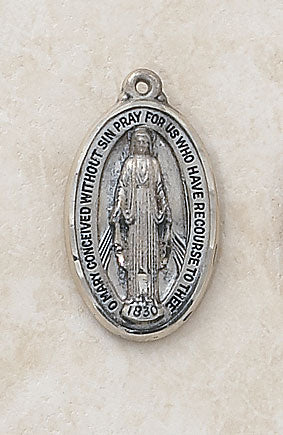 STERLING MIRACULOUS MEDAL - SS9356 - Catholic Book & Gift Store