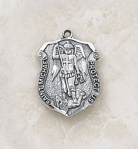 STERLING ST MICHAEL/SMALL SHIELD - SS993 - Catholic Book & Gift Store