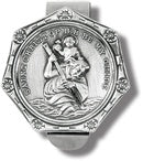 SAINT CHRISTOPHER AUTO VISOR CLIP - V-5011 - Catholic Book & Gift Store
