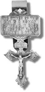 PARDON CRUCIFIX VISOR CLIP - V-5018 - Catholic Book & Gift Store