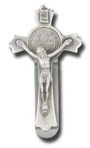 BENEDICTINE CRUCIFIX VISOR CLIP - V-5090 - Catholic Book & Gift Store