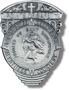 POINTS OF SAFETY/CHRISTOPHER VISOR CLIP - V-5095 - Catholic Book & Gift Store