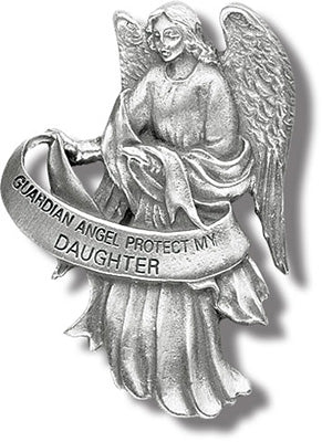 GUARDIAN ANGEL/DAUGHTER VISOR CLIP - V5082 - Catholic Book & Gift Store