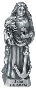 "2.5"" PEWTER ST PHILOMENA FIGURE - JC-3153-E - Catholic Book & Gift Store"