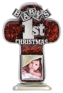 "4"" PEWTER CROSS/BABY'S 1ST CHRISTMAS - JC-3413-E - Catholic Book & Gift Store"