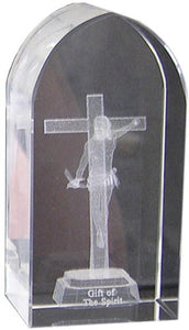 "3"" ETCHED ARCH GLASS - JC-4404 - Catholic Book & Gift Store"