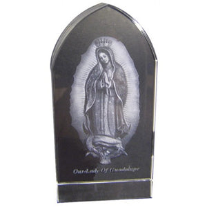 "3.25""X1.5"" O.L. GUADALUPE/ETCHED GLASS - JC-4415 - Catholic Book & Gift Store"
