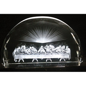 LAST SUPPER/ETCHED GLASS - JC-4426 - Catholic Book & Gift Store