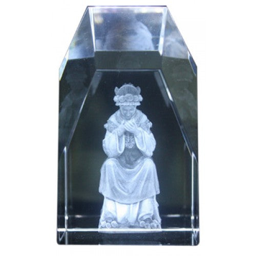 OUR LADY OF LASALETTE ETCHED GLASS - JC-4428 - Catholic Book & Gift Store